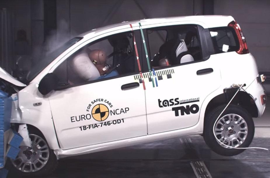 """""""Fiat Panda"""" saugumo bandymai"""