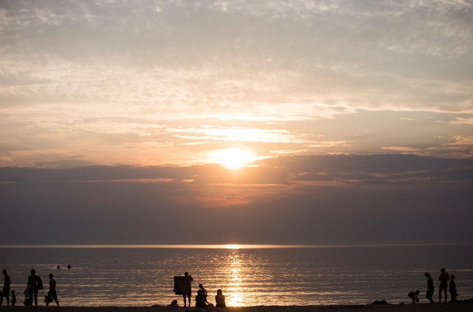 Vakarėjanti Baltijos jūra