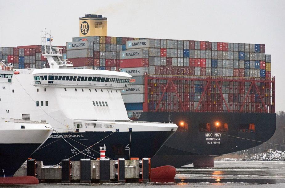 Klaipėdos uostas vartus atvėrė vienam didžiausių laivų pasaulyje