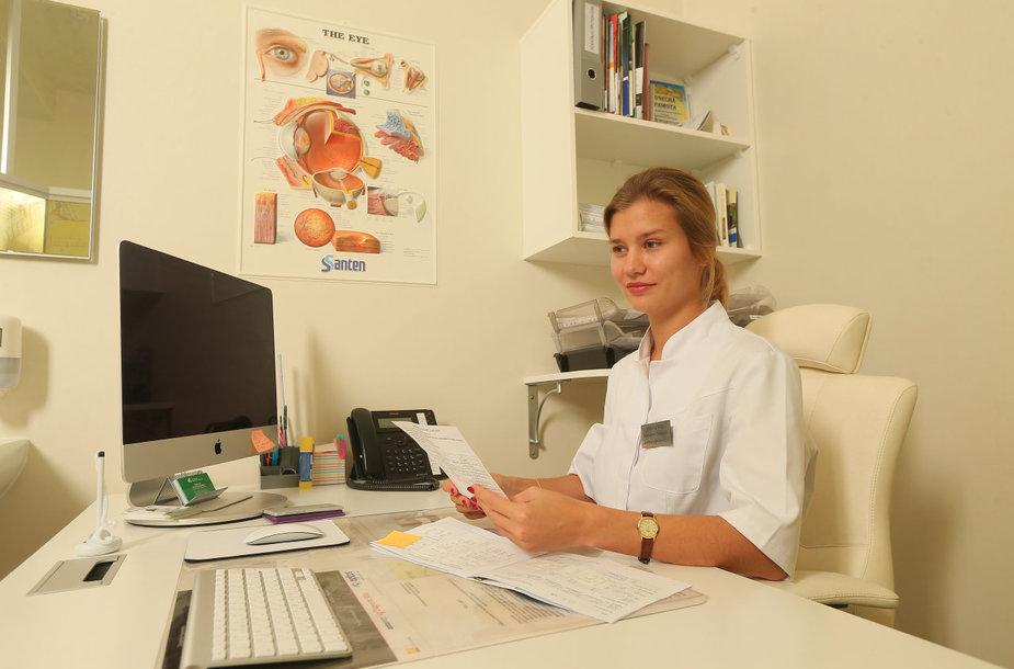 Gydytoja oftalmologė Jekaterina Kovrigina