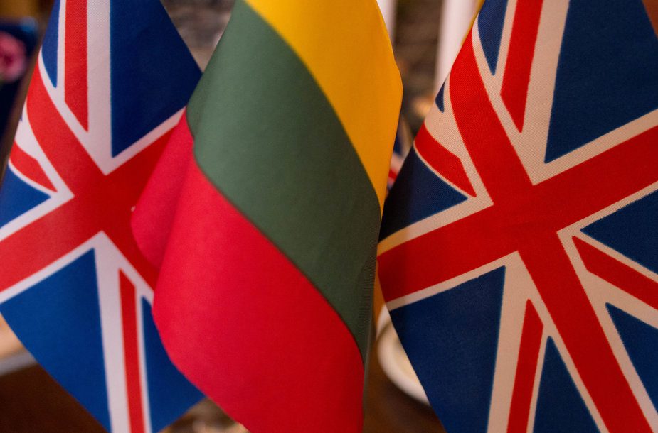 Lithuanian and British flags