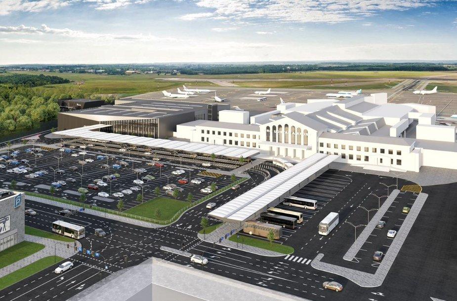Vilnius airport expansion visualisation