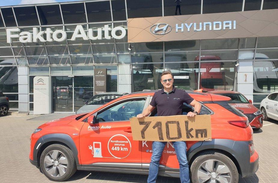 Vitoldas Milius elektromobiliu nuvažiavo 710 km