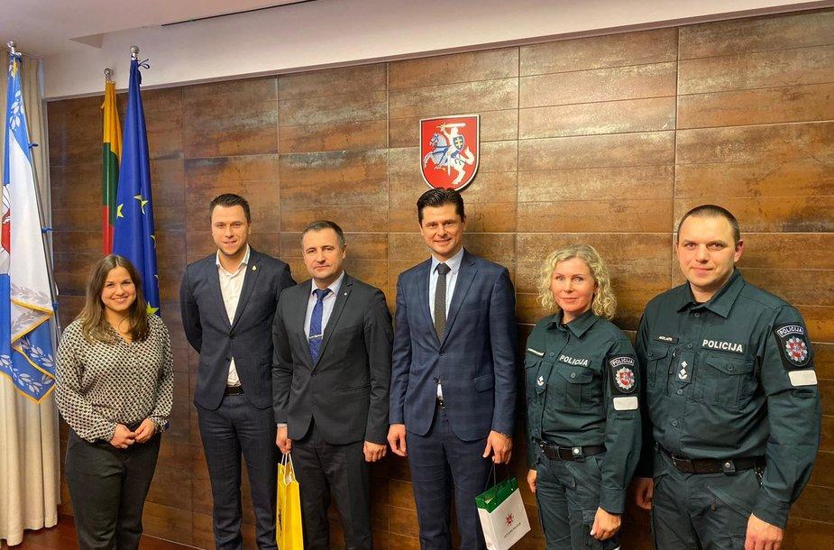 Tomas Danilevičius ir Edgaras Stankevičius susitiko su policijos generaliniu komisaru Renatu Požėla