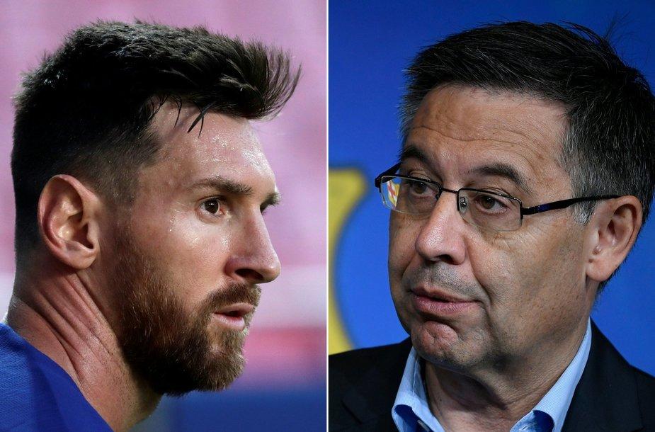 Lionelis Messi ir Josepas Maria Bartomeu
