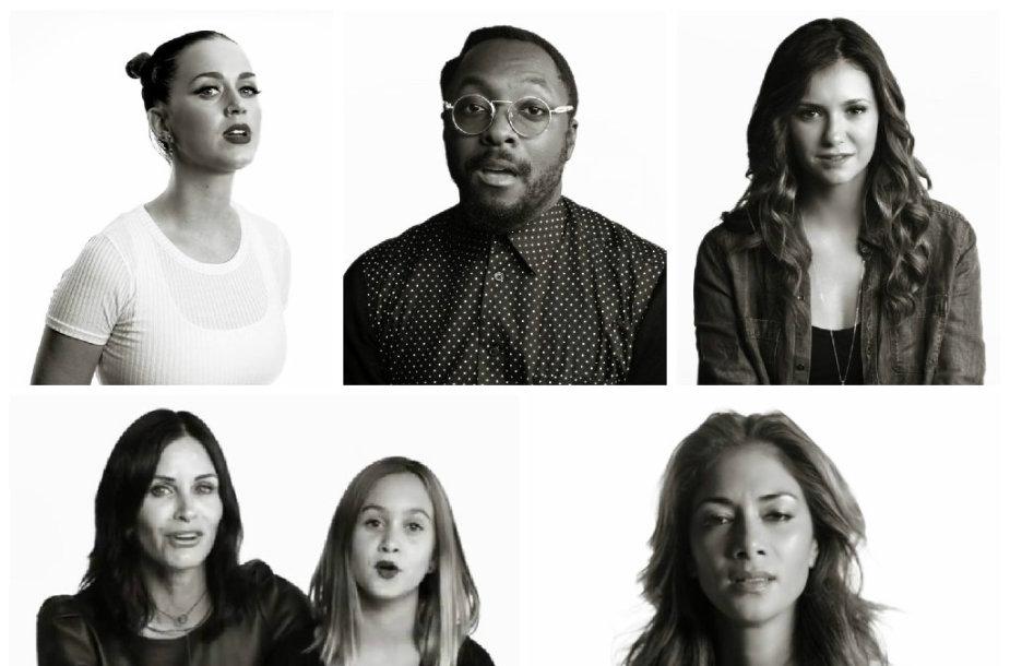 Katy Perry, will.i.am, Nina Dobrev, Courteney Cox su dukra Coco ir Nicole Scherzinger