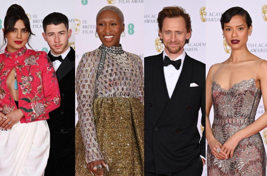 BAFTA raudono kilimo svečiai