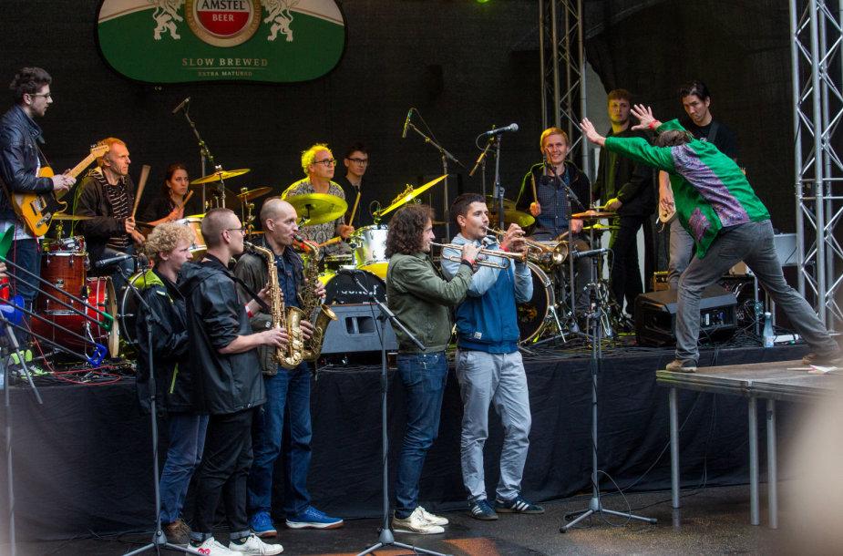 """""""Peronas Jazz Festival"""" akimirka"""