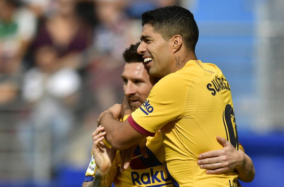 Luisas Suarezas ir Lionelis Messi