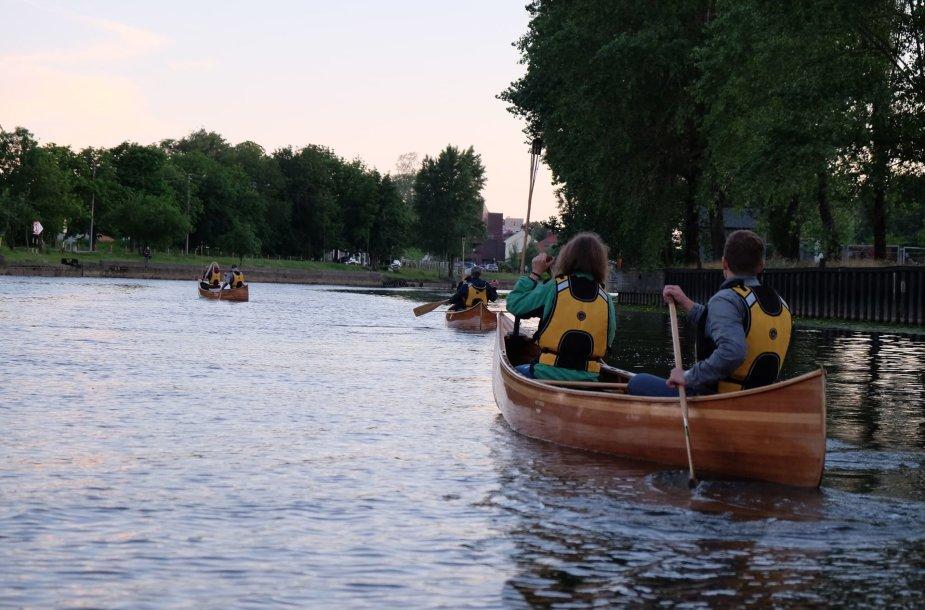 Danės upėje siekiama suaktyvinti vandens turizmą.