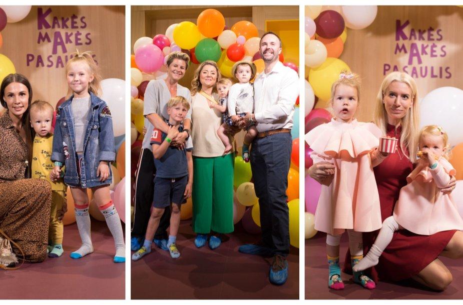 Veronika Montvydienė su vaikais, Beata Nicholson su šeima, Erika Purauskytė su dukromis