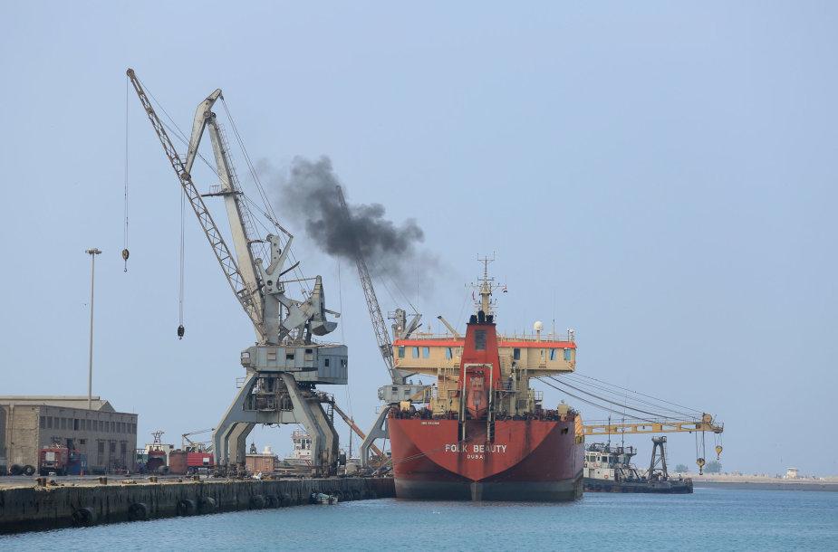 Laivas Jemeno uoste