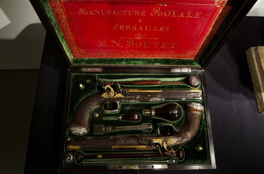 Simonui Bolivarui priklausę pistoletai