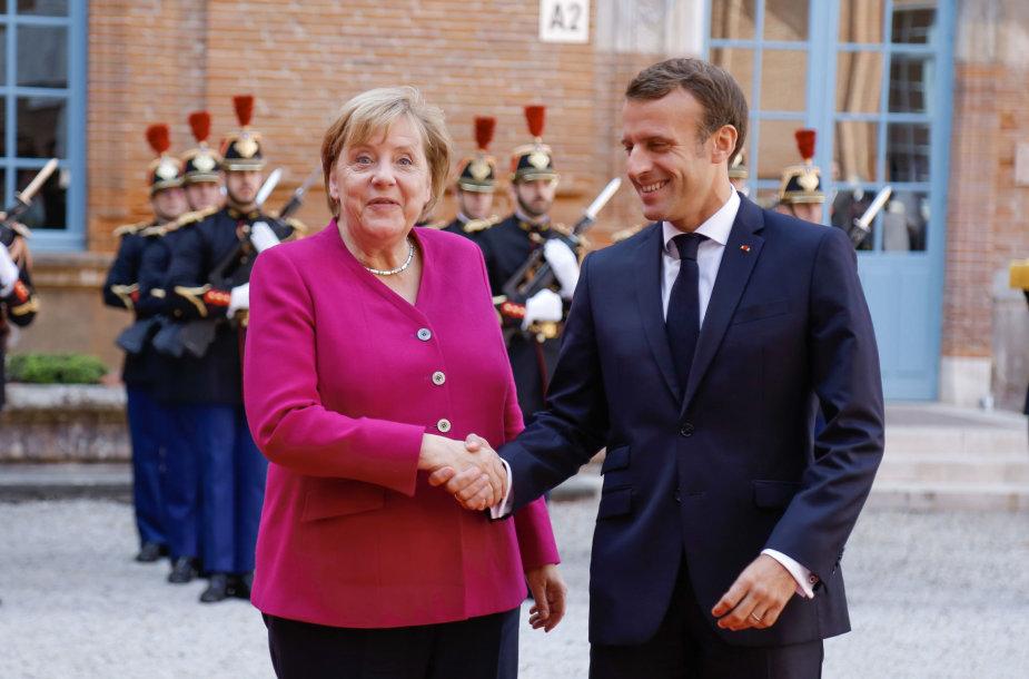 A.ngela Merkel ir Emmanuelis Macronas
