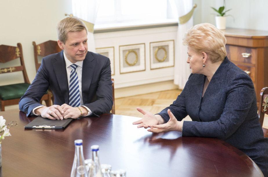 Remigijus Šimašius ir Dalia Grybauskaitė