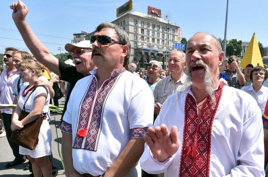 Maidano protestuotojai