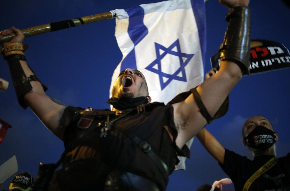 Protestas prieš Benjaminą Netanyahu