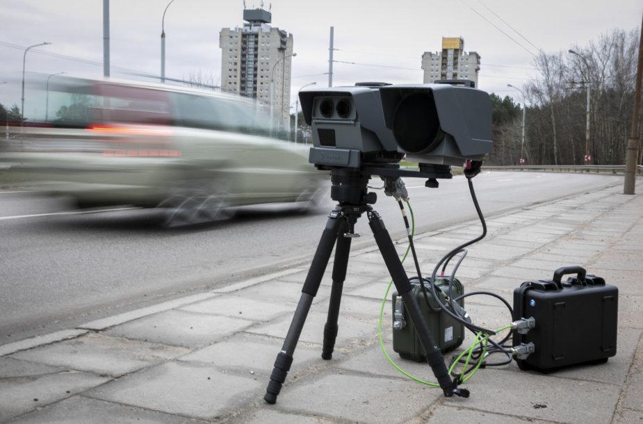 Vilniuje pristatytas jau veikiantis mobilus greičio matuoklis