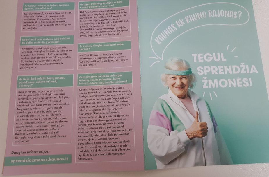 Kauno miesto savivaldybės platinti lankstinukai