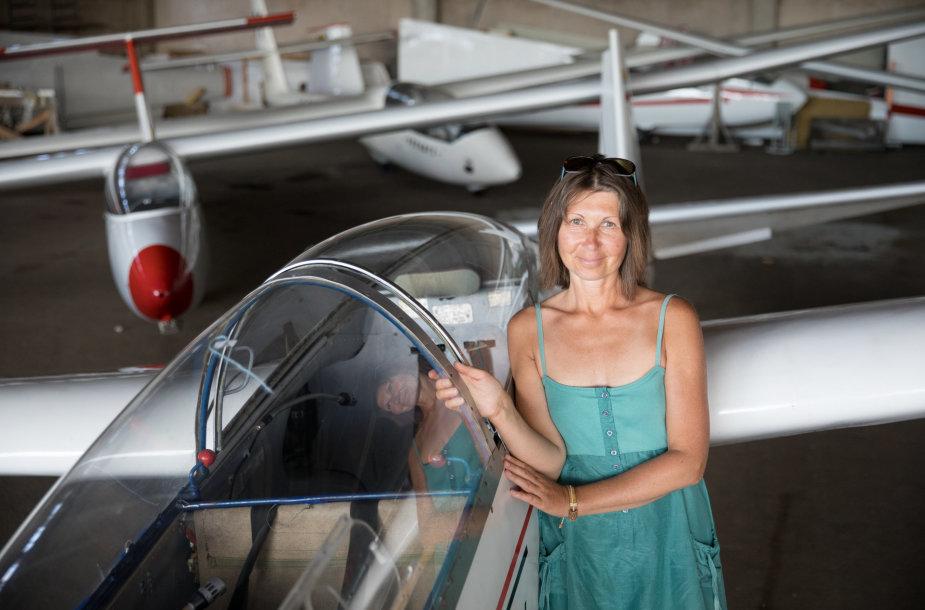 Paluknio aerodromo vadovė Dalia Vainienė
