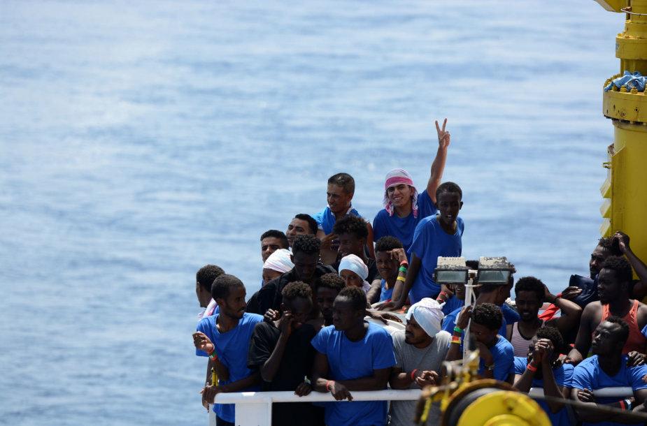 """Migrantai laive """"Aquarius"""""""