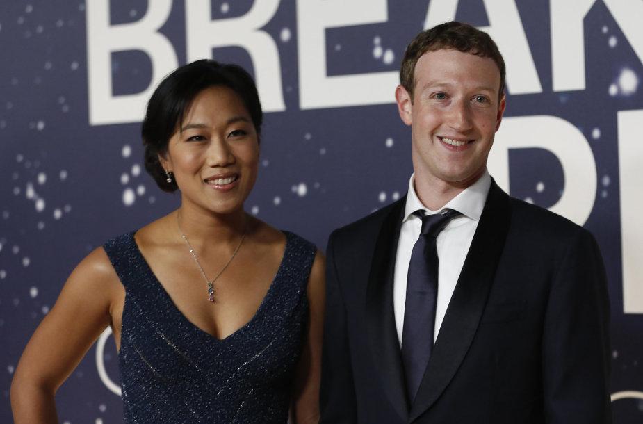 Priscilla Chan ir Markas Zuckerbergas