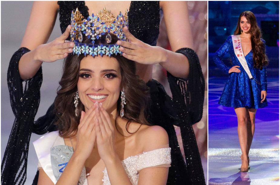 """""""Mis Pasaulis"""" konkursą laimėjo meksikietė Vanessa Ponce de Leon, o baltarusė (dešinėje) pateko į penketuką"""
