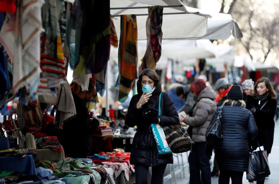 Milano gyventojai saugosi koronaviruso