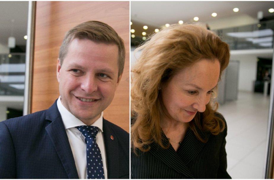 Remigijus Šimašius ir Alma Vaitkunskienė