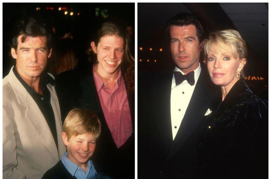 Pierce'as Brosnanas su sūnumis Seanu ir Christopheriu bei pirmąja žmona Cassandra
