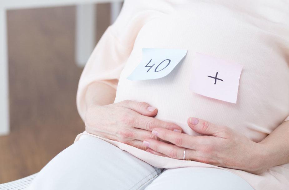 Nėščia moteris.