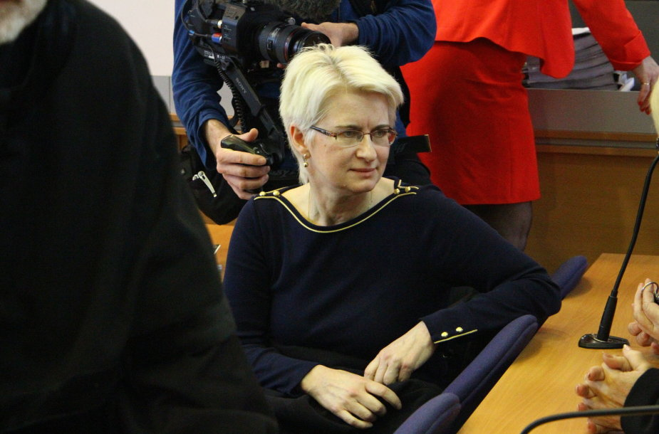 Neringa Venckienė atvyko į Panevėžio apygardos teismą