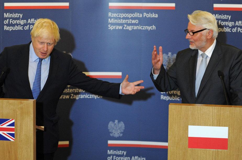 Borisas Johnsonas ir Witoldas Waszczykowskis