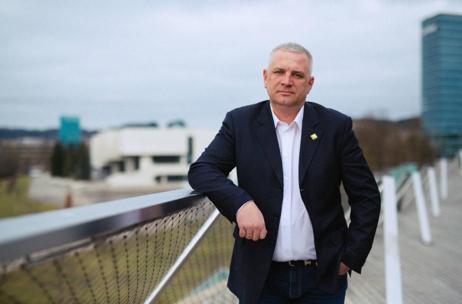 """Baltijos transporto profesinės sąjungos """"Solidarumas"""" pirmininkas Gintaras Čiužas"""