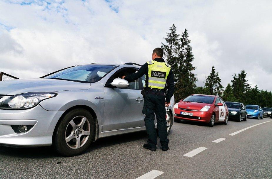 Reido metu Kauno policija pričiupo keletą girtų vairuotojų