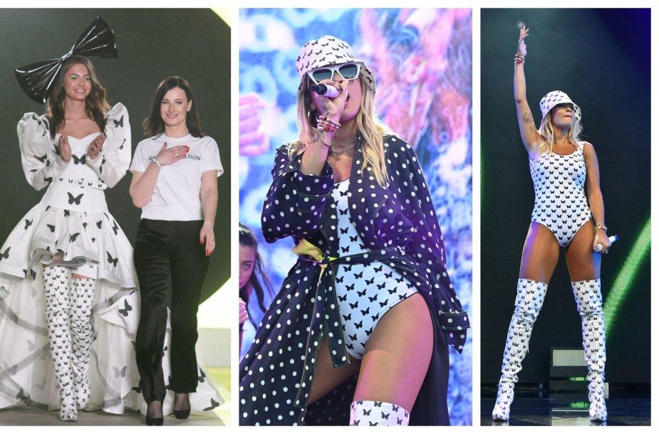 Popžvaigždė Rita Ora pasipuošė Agnės Kuzmickaitės kūriniais