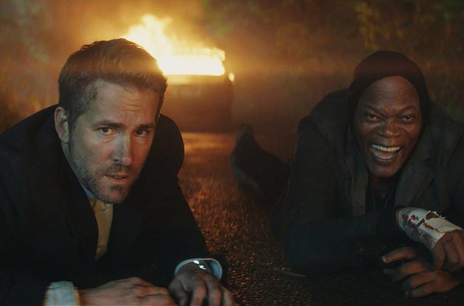 """Ryanas Reynoldsas ir Samuelis L. Jacksonas komedijoje """"Žudiko asmens sargybinis"""""""