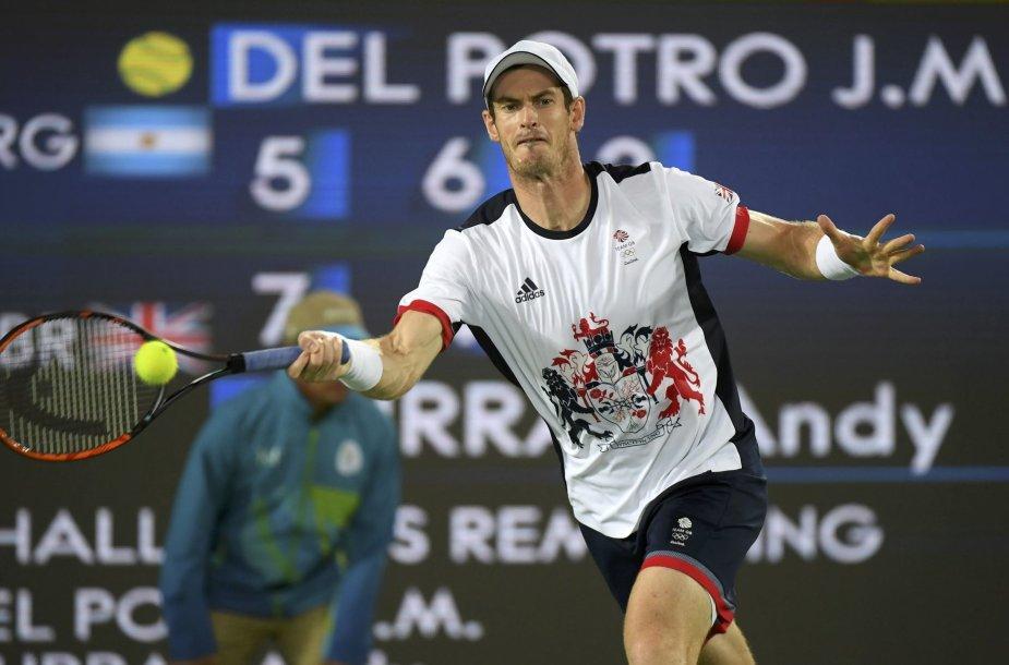Andy Murray nugalėjo Juaną Martiną del Potro ir apgynė olimpinio čempiono vardą