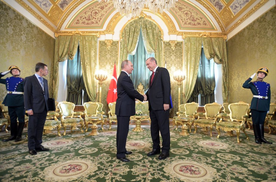 Vladimiras Putinas susitiko su Recepu Tayyipu Erdoganu.