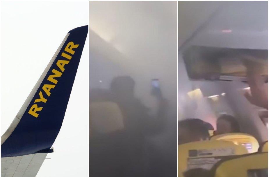 """""""Ryanair"""" lėktuvas tik pakilęs apsipylė dūmais"""