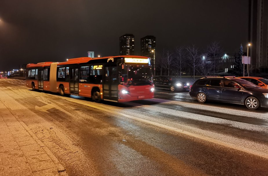 Vilniuje – slidžios gatvės