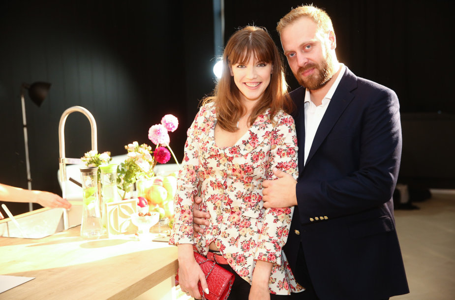 Alesia Litvinionok-Mačiulis su vyru Romualdu