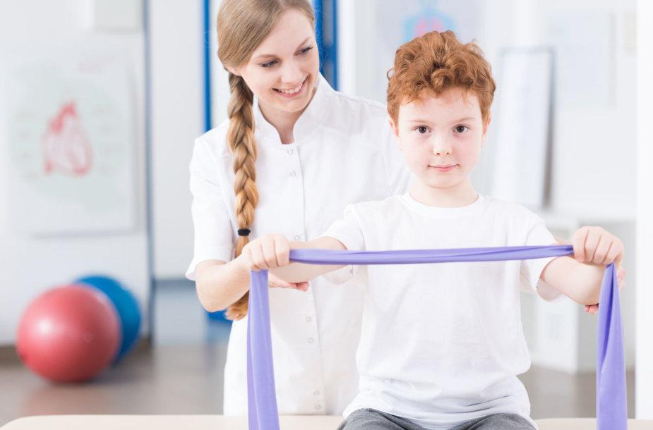 Vaikas sportuoja