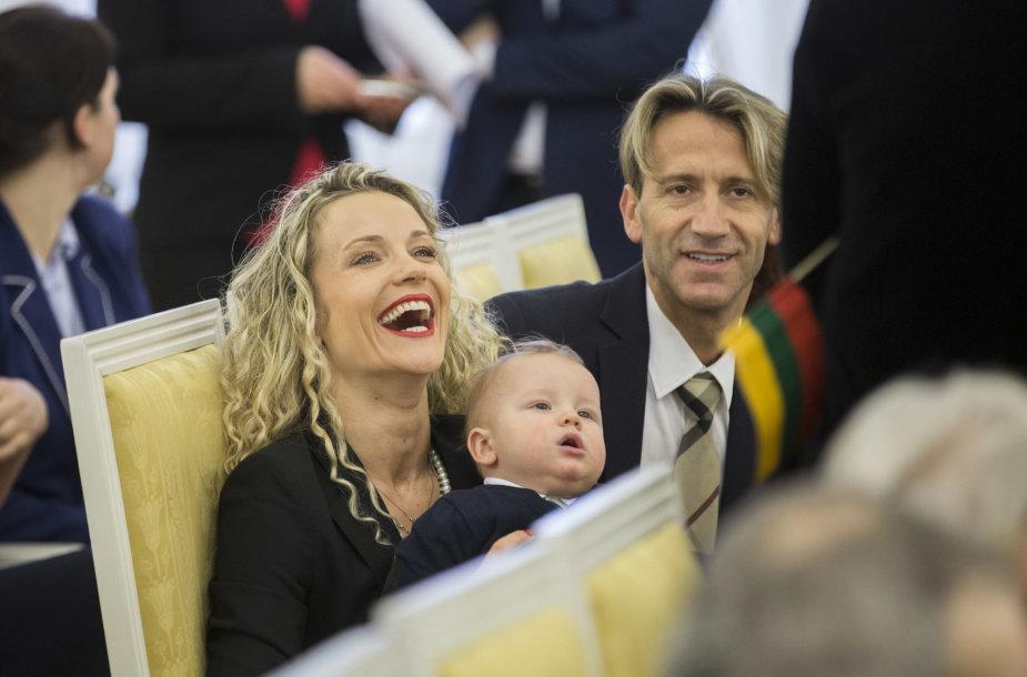 Edita Daniūtė ir Mirko Gozzoli su sūnumi Romeo