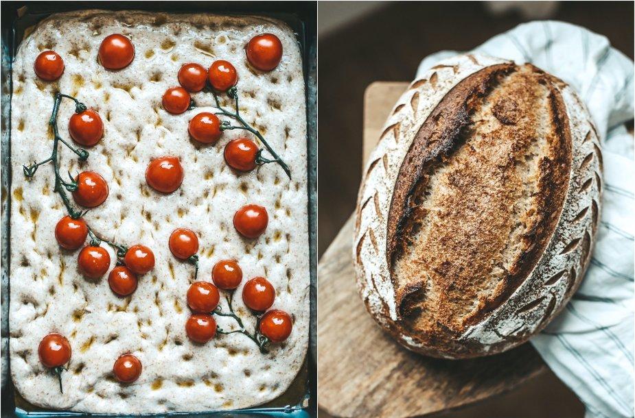 Vasariška fokačija ir duona su raugu