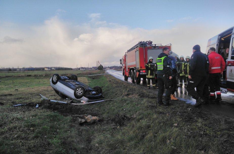 Audi avarija Šilutės rajone
