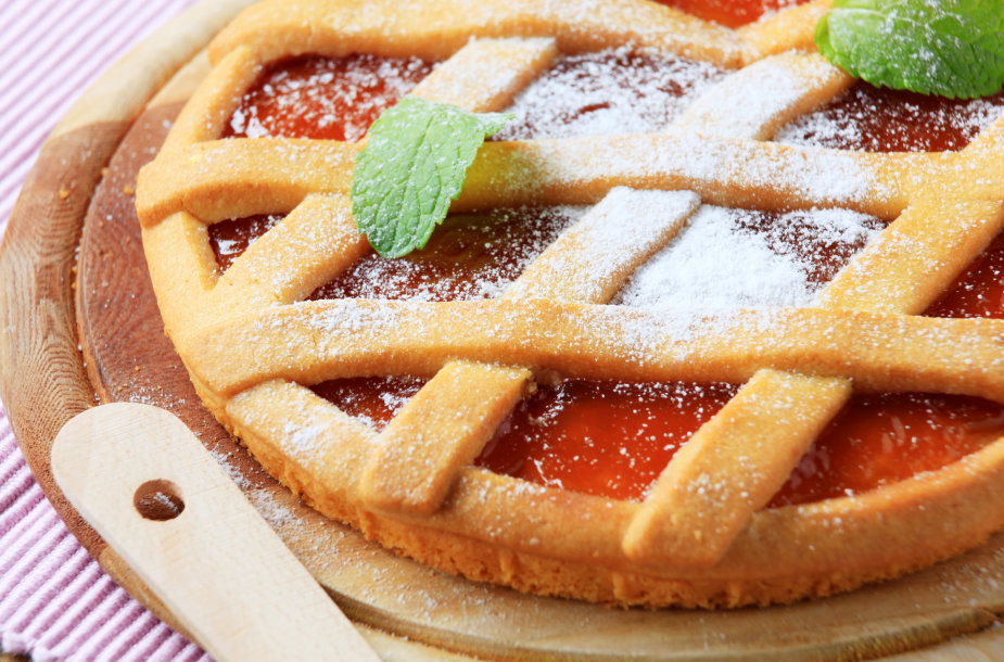 Trapios tešlos pyragas su marmeladu