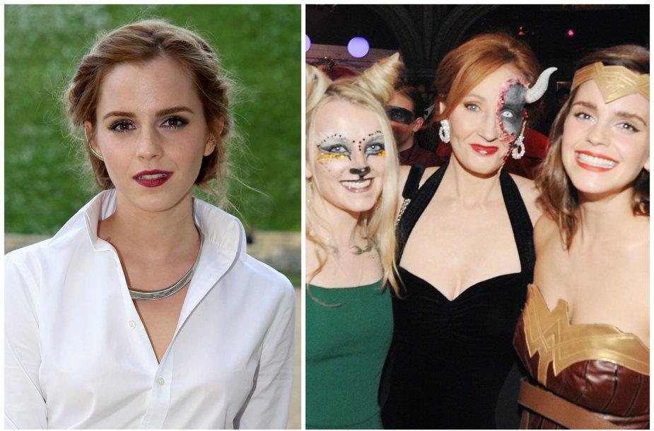 Evanna Lynch, J.K. Rowling ir Emmą Watson