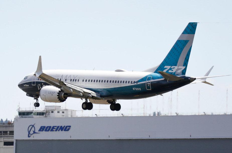 """""""737 Max Boeing"""" lėktuvo bandomasis skrydis"""