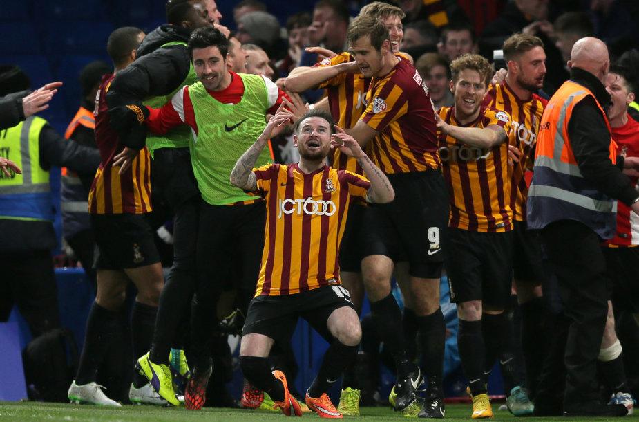 """""""Bradford City"""" komandos triumfas nukovus """"Chelsea"""""""